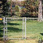 Chainlink fence and gate